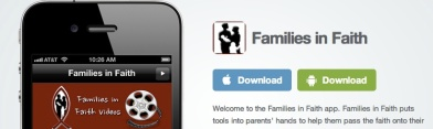 Link to the Families in Faith apps